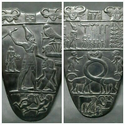 ANCIENT EGYPTIAN ANTIQUES King Narmer Palette Double Face Egypt Bazalt Stone BC