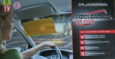 Platinum Vizclear HD Car Visor optimaler Blendschutz, neu