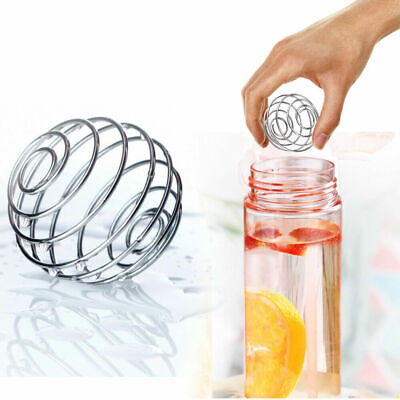 1 x Stainless Steel Bottle Mixer Blender Whisk Ball Protein Shaker Water Cup Mix
