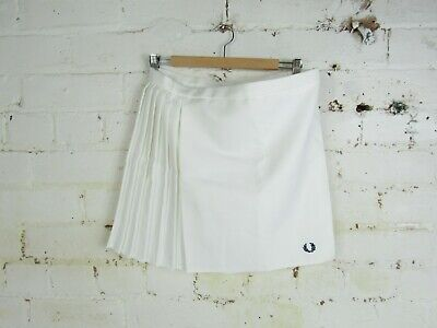 Womens Fred Perry Retro 90's Vintage summer Tennis Skirt Size Large White