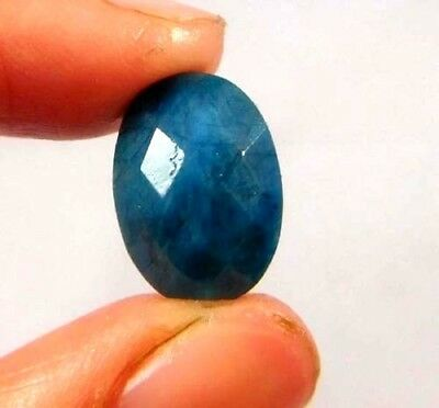 Dyed Faceted Blue Sapphire Gemstone 5 ct 13x9mm W465