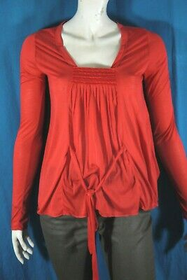 KOOKAI Taille 1 - 36  Superbe tee shirt manches longues rouge femme blouse T-shi