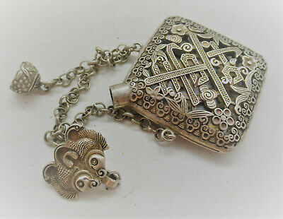 Lovely Antique Post Medieval Openwork Silver Snuff Bottle
