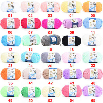 Multicolor New Cotton Chunky Hand-woven Milk Cotton Knitting Scores Wool Yarn、AU