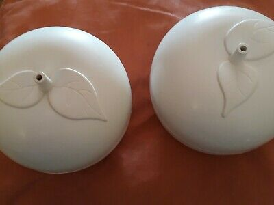 2 Vintage White Betterware Apple Bakers For Use In Microwave