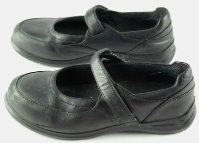 Aravon Mary Janes Womens Size 6.5 Black Leather Slip On Comfort Shoes