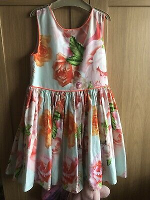 Ted Baker Orange Dress Size 9yrs