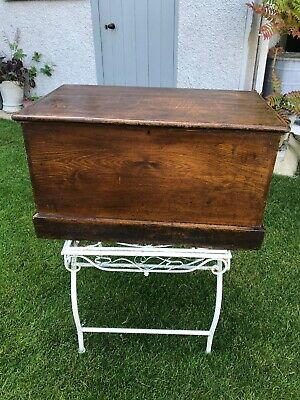 Old antique pine Painted blanket box wooden trunk coffee table vintage Victorian