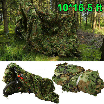 Camouflage Camo Net Netting Camping Military Hunting Woodland Leaves 10x16.5Ft