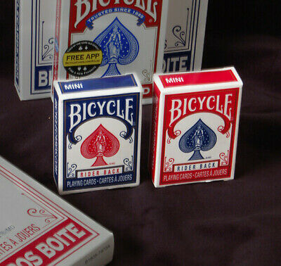 Two Decks - Bicycle Mini Rider Back Playing Card - Red & Blue - Two Sealed Decks