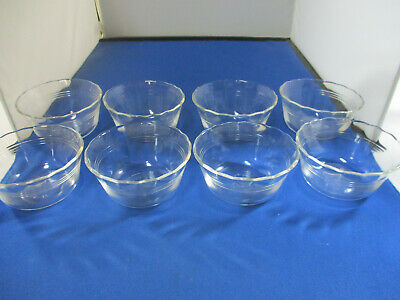 Vintage Pyrex 6 oz. Custard Cups Set of 8 Clear Glass Made in USA #463