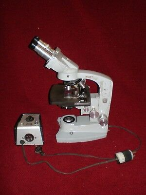 Vintage American Optical Spencer Binocular Microscope with Voltage Selector