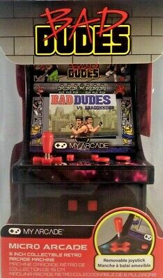 My Arcade Bad Dudes Micro Player 6 Collectable Arcade, New in Box, Free Shipping