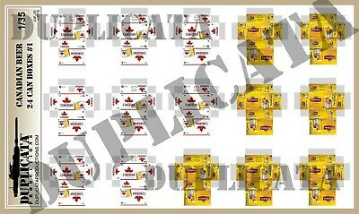 Diorama/Model Accessory - 1/35 Canadian Beer, 24 Can Boxes #1