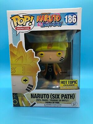 Funko Pop! Naruto (Six Path) Shippuden 186 Hot Topic Exclusive Glows In Dark