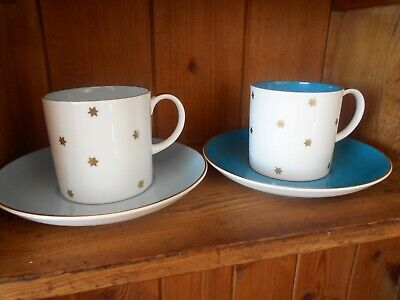 Vintage Susie Cooper Coffee Cups and Saucers ,Starburst  design x 2