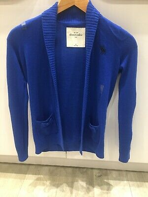 Abercrombie & Fitch Kids Cardigan Medium Royal Blue BNWT