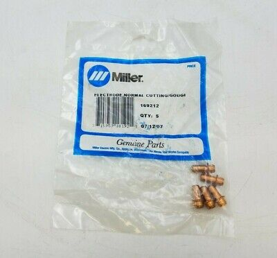 5 Pack Miller 169212 Electrode 55A Air Normal Cutting Gouging ICE-50 Torch NOS