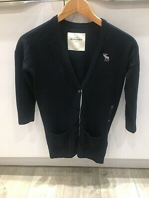 Abercrombie & Fitch Kids Cardigan Large Navy Blue BNWT