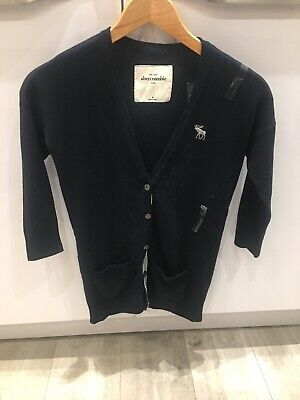 Abercrombie & Fitch Kids Cardigan Medium Navy Blue BNWT