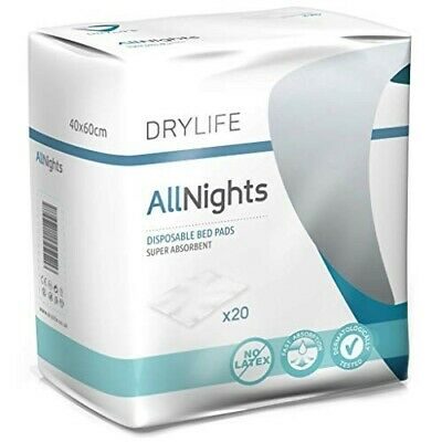 Drylife Disposable Incontinence Bed Pads (60cm x 90cm) - Pack of 20. Pickup SW11