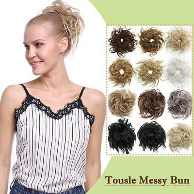 Casual Thick Messy Bun Scrunchies Updo Wrap on Hair Extension Hair Piece Blonde