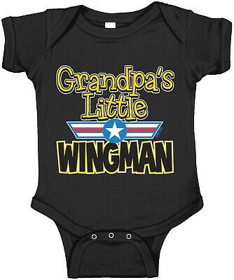 CafePress Aviation Grandpas Wingman Long Baby Bodysuit