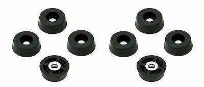 8 Small Round Rubber Feet Bumpers - .250 H X .671 D - Made In Usa Food Safe Cutt