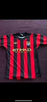 Manchester City Mens Away Shirt 2011/2012 Umbro Size Small