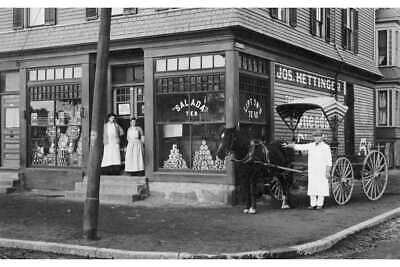 """Corner Grocery Store Of Early 1900S Photo 12""""x8"""""""
