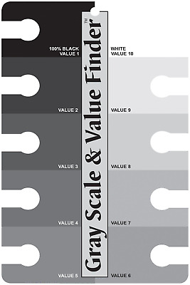 245557 3505 Gray Scale and Value Finder, Black/White