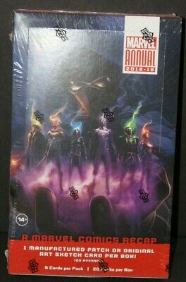 Marvel Annual 2018-19 TRADING CARDS BOX A Marvel Comics Recap  *FACTORY SEALED*