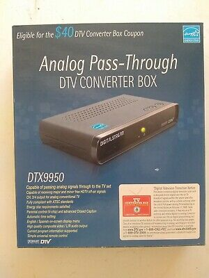 Digital Stream Analog Pass-Through DTV Converter Box DTX9950 New