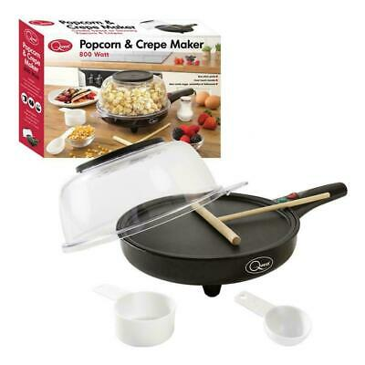 Quest 800W 2in1 Electric Kitchen Popcorn Crepe Omelette Pancake Flatbread Maker