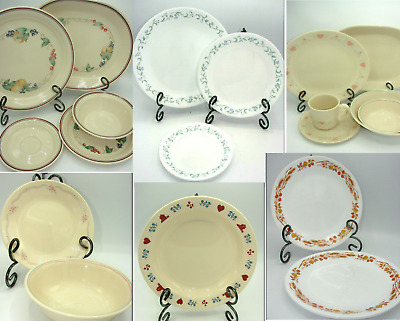 Corelle Corning Dinner Plates Salad Cereal Bowl Serving Dinnerwear Replacements
