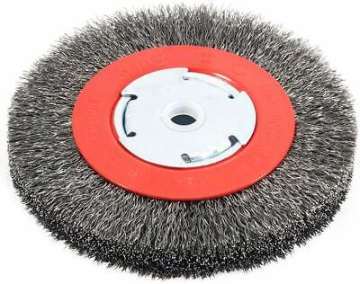 Forney 72750 Wire Bench Wheel Brush, Narrow Face Coarse Crimped With 1/2-Inch An