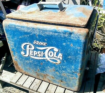 VINTAGE DRINK PEPSI Cola Portable Cooler With Removal Tray