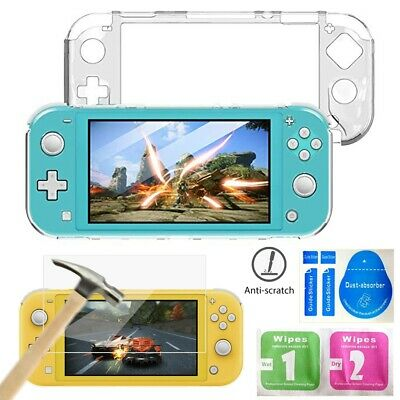 For Nintendo Switch Lite Case Cover Protective + Tempered Glass Screen Protector