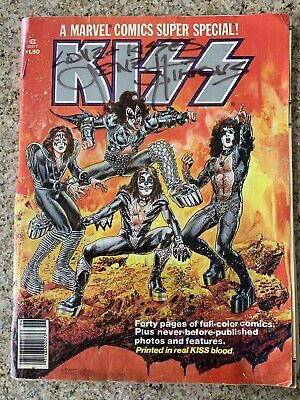 1977 Kiss Marvel Comic Special - Signed By Gene Simmons - Printed In Real Blood