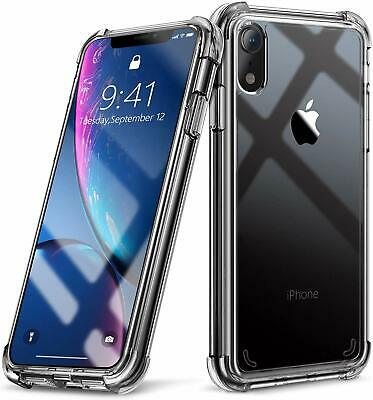 For iPhone Case 5 8 7 6 XS X Bumper Shockproof Clear Silicone Protective Cover
