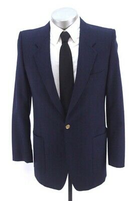 vintage mens navy blue YVES SAINT LAURENT YSL blazer jacket sport suit coat 38 L