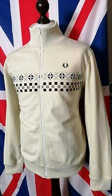 Fred Perry Tracksuit Top - XL/XXL - Cream - Mod Casuals 60's