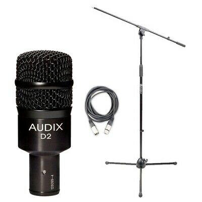 Audix D2 Microphone w/ 20ft XLR Cable and Boom Stand
