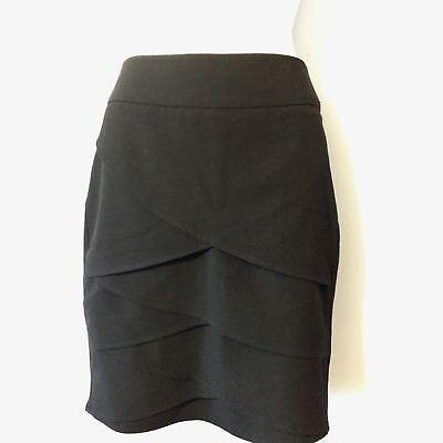 A. Byer Black Layered Front Mini Skirt Size Juniors 3