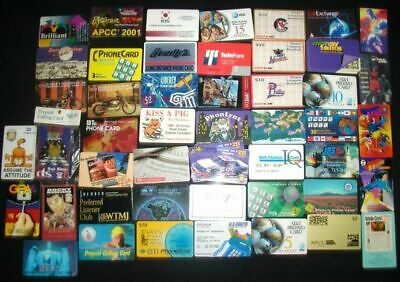 LOT: 67 vintage Collectible Pre-Paid Phone Cards from the 1990s