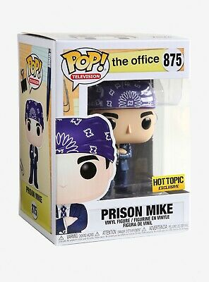 Funko Pop The Office Prison Mike Exclusive Hot Topic *In Hand* Mint Condition