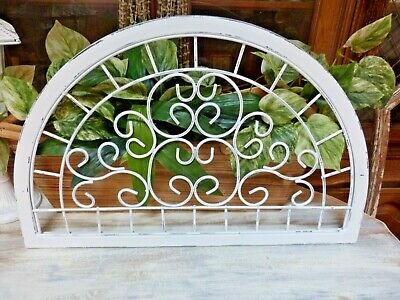 Shabby Yet Chic ARCHITECTURAL Wrought Iron Scrolled Header / Wall Hanging