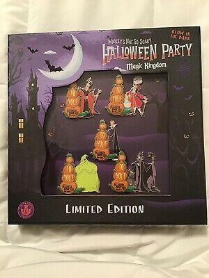 Disney Parks WDW mickeys Halloween Party MNSSHP 2019 Pin 5 Box Set Queen LE 1000