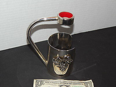 Nice Rare Vintage Silver Plated Wine Holder / Pourer