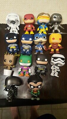Funko pop lot marvel Batman star wars used played with condition